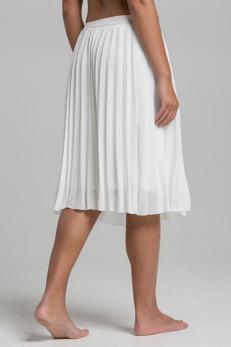 REA Ajlajk Plisserad vit kjol - Strl M