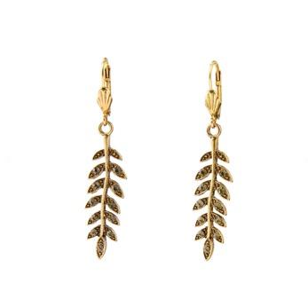 ByJolima Leaf earrings gold - One size