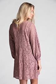 REA Ajlajk spetsklänning rose