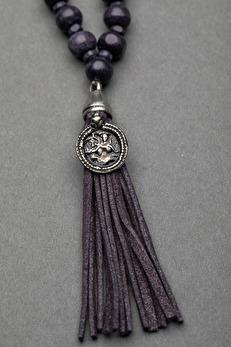 Ajlajk halsband m tofs darc lilac - One size