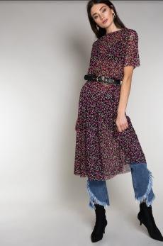 Rut&Circle Flower Mesh klänning - Strl M