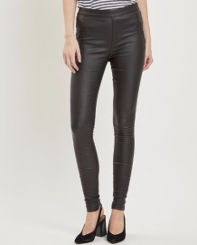 Object Belle svarta coated leggings