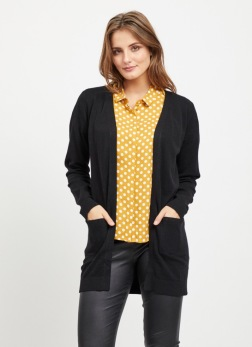 Object Thess cardigan svart - Strl XS