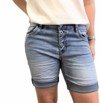 Caramel Jeansblå shorts - Strl 34