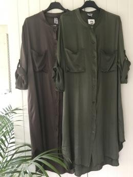 Stail_se skjortklänning - Onesize brun