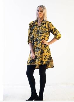 Happi/Lovely skjortblus mustard - S/M