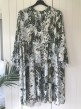 Cat&Co vit/grön klänning - Strl 48