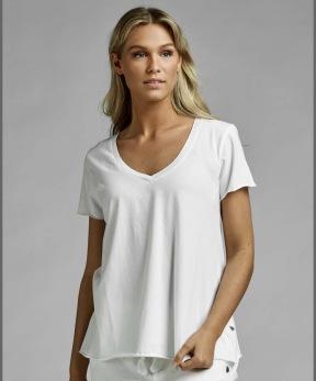 Ajlajk T-shirt i eco bomull, vit - Strl S