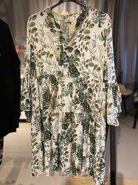 Cat&Co vit/grön klänning