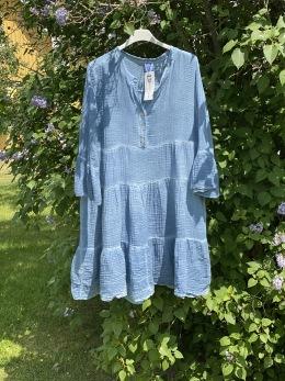 Stail_se klänning/tunika jeansblå - Onesize jeansblå