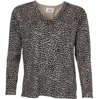 Isay Rubi pullover spottet black - Strl XS
