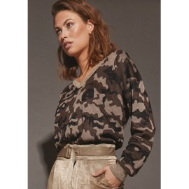 Isay Donna Pullover, lurex camo