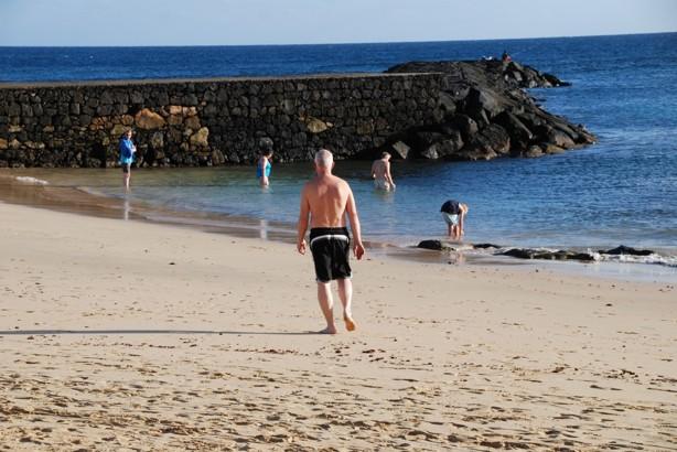 Undrar om det är varmt i vattnet? (det var det INTE!!)