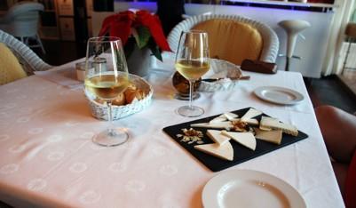 Vin och getost från Lanzarote - gott!