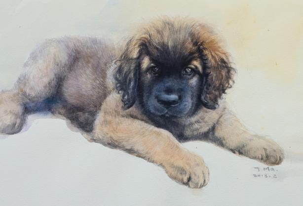 Akvarell av Otto