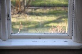Fönster i behov av renovering.