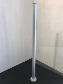 Glasräcke stolpe aluminium - Aluminiumstolpe till glasräcke i valfri höjd. Glasräcket orderanpassas efter dina mått.