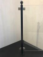 Stolpe stål svartlackerad