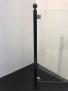 Stolpe stål svartlackerad - Svartlackerad ändstolpe