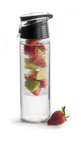 Flaska med fruktkolv - Flaska med kolv svart