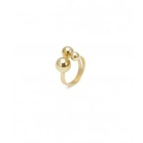 Ring - Ring bollar guld small