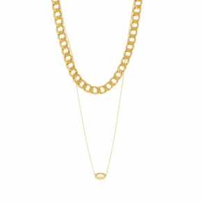 Halsband - Halsband två guld