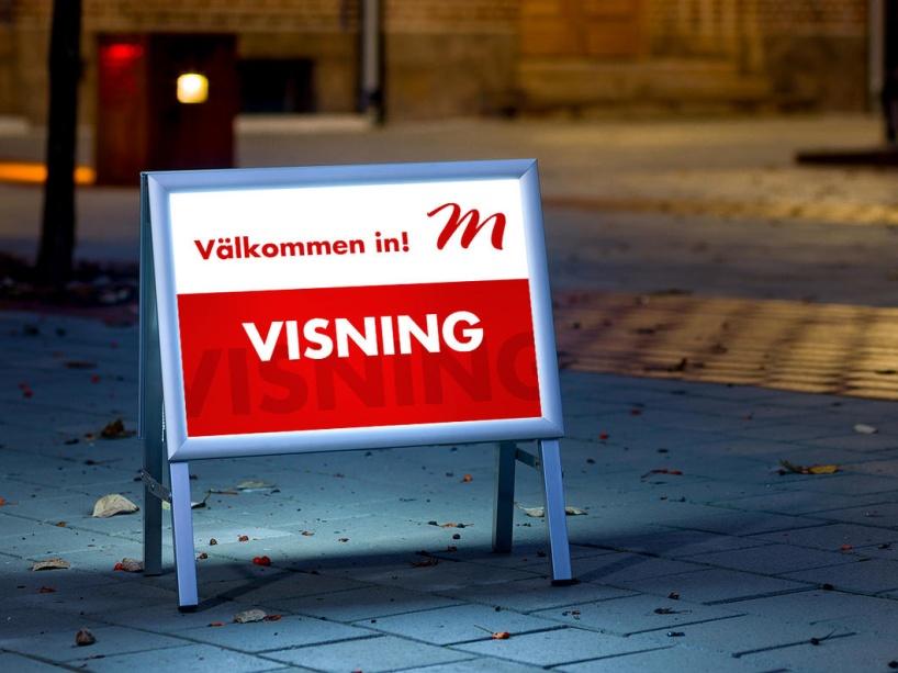 Bakgrundsbelyst Visningsbock utvecklad åt Tylöprint i Halmstad