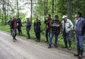 Mikael Svensson med några av deltagarna