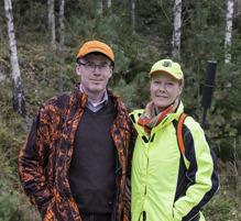 Premiärdagen 2015 med senaste medlemmen/jägare Marie-Louise