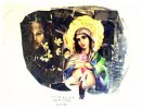 """""""Jungfru Maria och Ängeln"""" ; kollage A1 med  ram 500kr"""