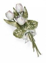 Blommor i brons till graven eller gravstenen