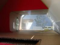 Fotomontage från modell på gästrum/arbetsrum