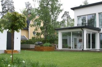 Nytt uterum, altaner och planteringar