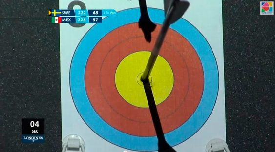 My last arrow in the bronze final