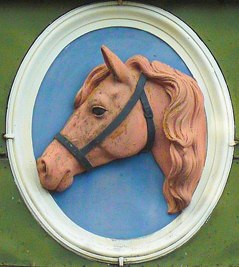 Hästhuvud från stallet