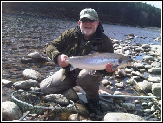 Aberdeen Angling Association President Bob Dey with a nice salmon from Invercauld
