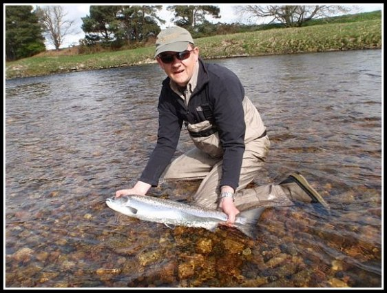 Chris Hall returning carefully his first Dee Springer