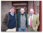 P104127 – River Dee Director Mark Bilsby, TV Celebrity Paul Whitehouse and River Dee Chairman Ian Scott