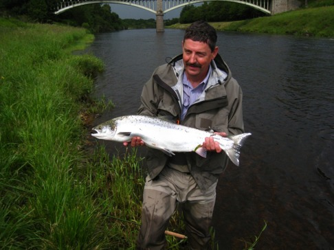Bernard Bimboes with his first ever salmon