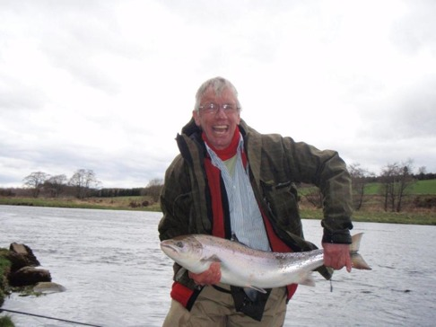 A delighted Bill Church with a fine Spring Salmon