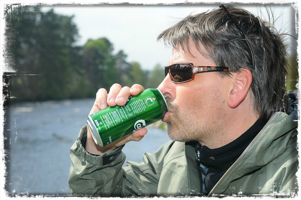 Drinking Beer at River Dee Photo Peter Thesslund