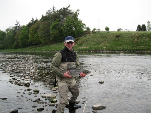 Toby Owen with salmon