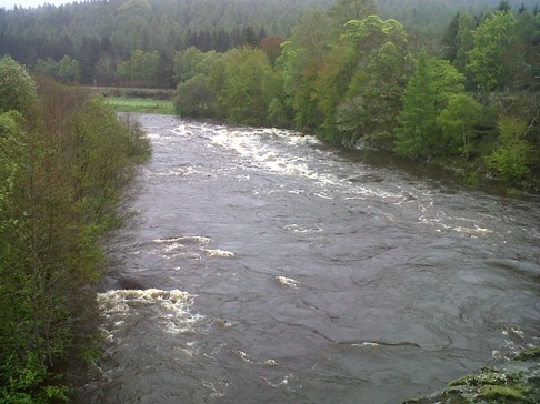 River Dee at Potarch Bridge Sunday 8th May