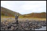 I am struggling white a big salmon in Marks Pocket Photo Håkan Norling