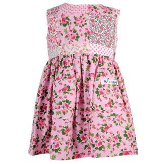 Rosa klänning - Rosa blomma 74cl