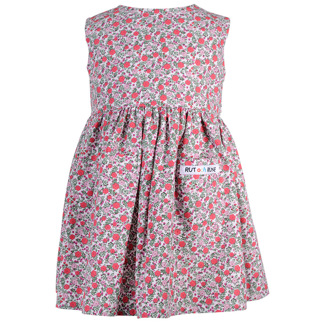 Rosa småblommig klänning - Blommig klänning 74 cl