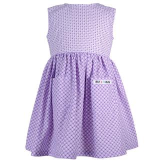 Lila klänning med fickor - Lila klänning 74 cl