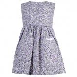Lila småblommig klänning