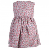 Rosa småblommig klänning
