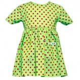 Klänning - Grön prick